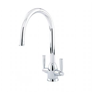 CLEARANCE - 4861 Perrin & Rowe Oberon Monobloc Sink Mixer Tap C Spout with Lever Handles - Chrome